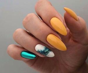 green, nails, and yellow image
