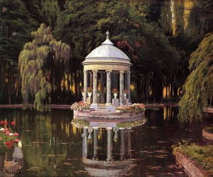 garden, art, and aesthetic image