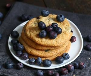 blueberries, blueberry, and Cookies image