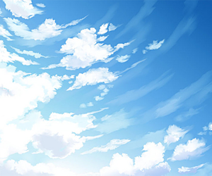 drawing, sky, and scenery image