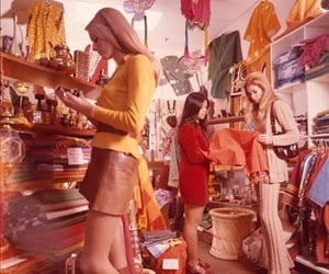 70s, retro, and shopping image