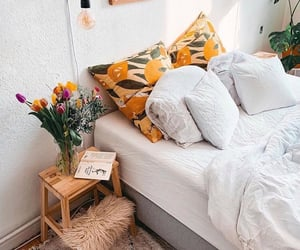 bed, bedroom, and inspo image