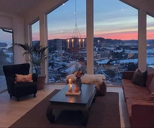 living room, snow, and winter image