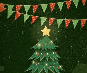 background, christmas, and christmas tree image