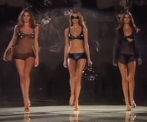 90s, catwalk, and gif image