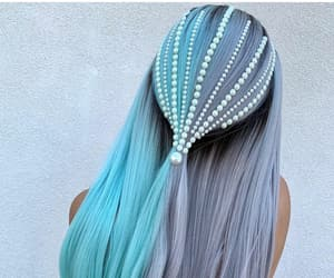 blue, hair, and pearls image