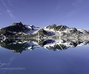 arctic, mountains, and seascape image