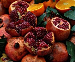 orange, pomegranate, and food image