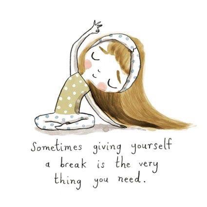 break, girl, and yoga image