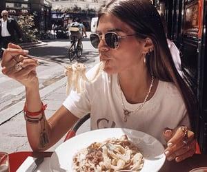 city, food, and girl image