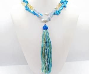 etsy, long necklace, and turquoise howlite image