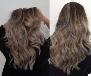curls, curly, and hair image