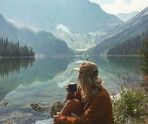 adventure, nature, and brunette image