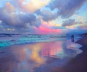beach, colors, and view image