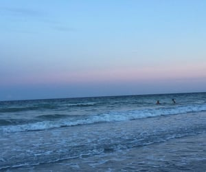 beach, colors, and sunset image