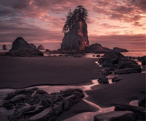 beautiful, rocks, and dark image