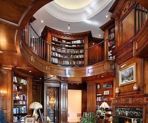 library, office, and opulent image
