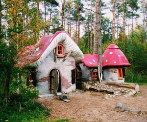 mushroom, house, and fairy image