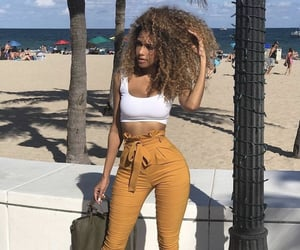 curly hair, fashion, and goals image