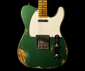 electric guitar, green, and guitar image