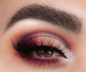 green eyes, make up, and lashes image