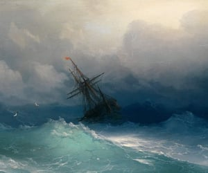 blue, sea, and ship image