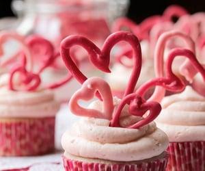 cake, chocolate cake, and muffins image