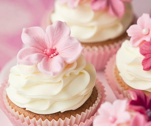 beautiful, cake, cupcake, cute, delicious, dessert, flower, food, love, lovely, pink, sweet, yum