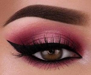 belleza, mirada, and maquillaje image