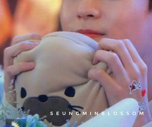 hyunjin, seungmin, and bangchan image