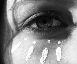 eye, black and white, and eyes image