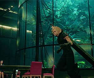 cloud strife, final fantasy 7, and video game image