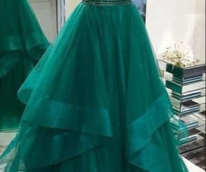 prom gowns, prom gown, and tulle prom dress image