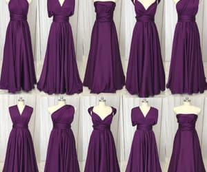 purple bridesmaid dress, bridesmaid dresses long, and wedding party dress image