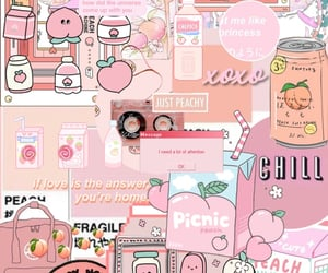 background, peach, and pink image