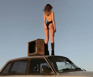 bodysuit, car, and shooting image