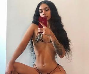 bikini, fashion, and model image