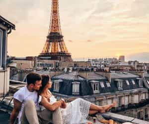 paris, couple, and france image