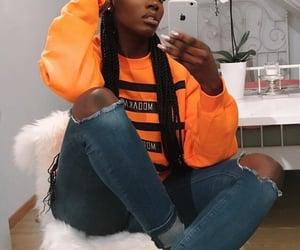 fashion, orange, and iphone image