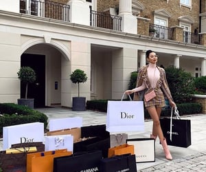 girl, luxury, and shopping image