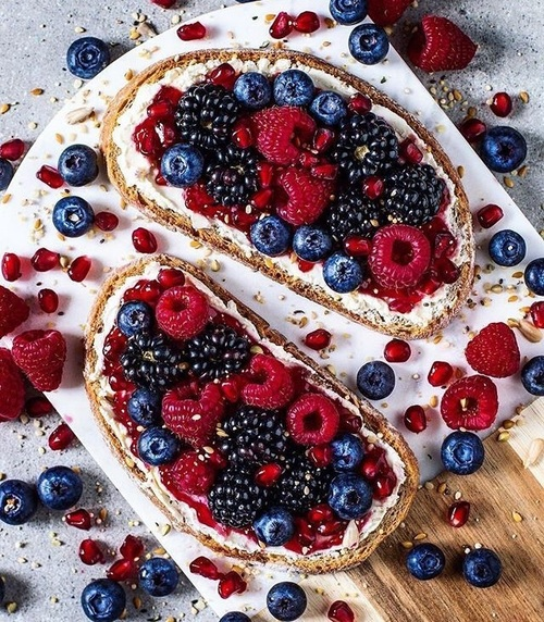 article, berries, and breakfast image