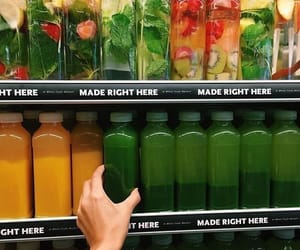 green, juice, and fruit image