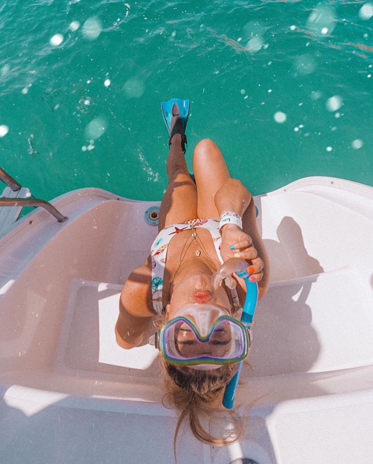 girl, scuba diving, and sea image