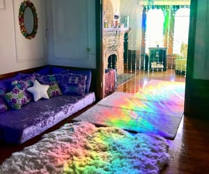 rainbow, tumblr, and home image
