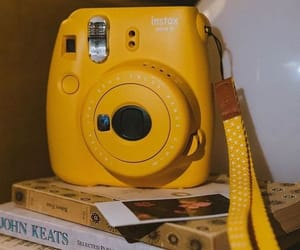 yellow, aesthetic, and polaroid image