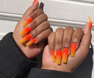 fake nails and acrylic nails image
