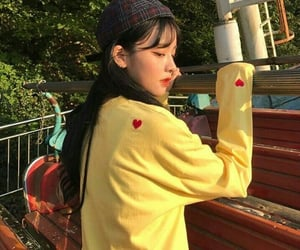 girls, styles, and yellow image