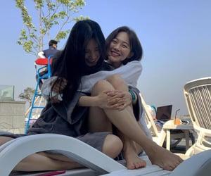 couple, girls, and korean image