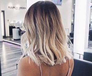 blonde, haircut, and short image
