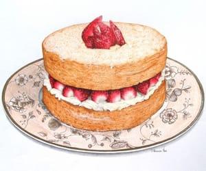 anime, art, and cake image